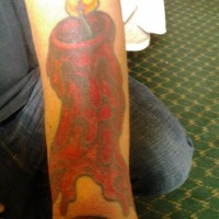 Candles Red I have a Pair.... Darin Lamb Tattoo